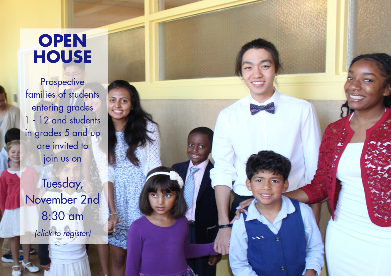 Open House - Click to register